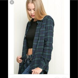 Brandy Melville flannel shirt